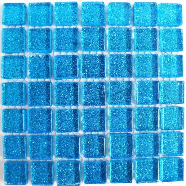 cobalt blue, blue, mini,plain,  mosaic tile, crystal glass, glass tiles, glitter, mosaic mad