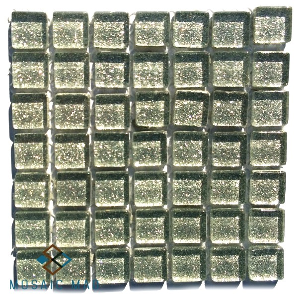grey, silver, mini, plain,  mosaic tile, crystal glass, glass tiles, glitter, mosaic mad